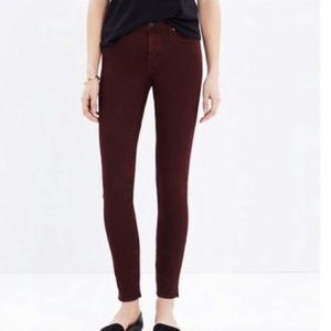 Madewell 9″ High-Rise Skinny Jeans Garment Dyed